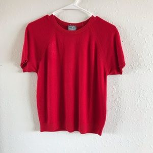 Sweaters - Red short Sleeved Sweater